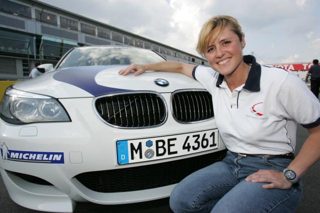 Sabine Schmitz with BMW